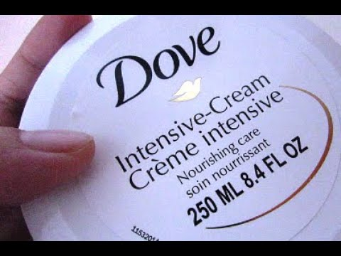 FAST REVIEW: Dove Intensive Cream Nourishing Care (How To Use)