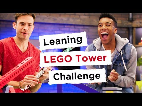 LEGO Leaning Tower Challenge - REBRICKULOUS