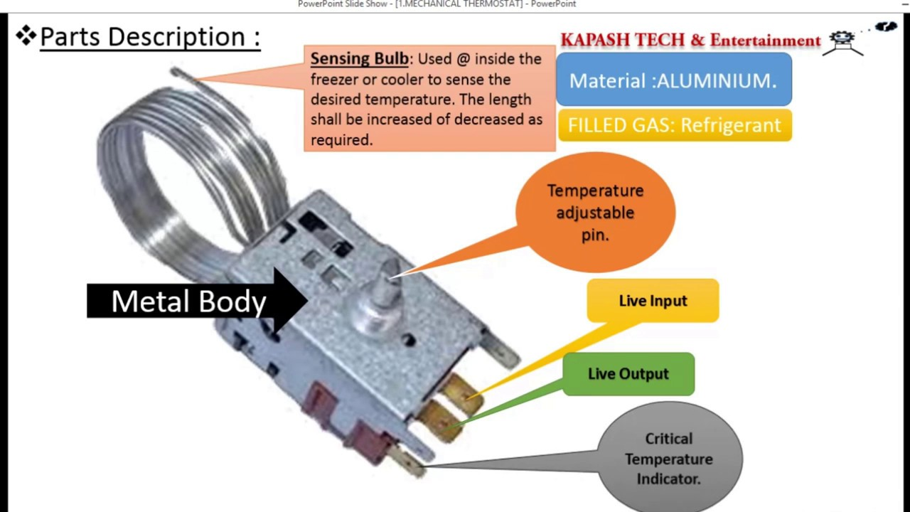 Wiring Diagram For Refrigerator Dual Voice Coil Subwoofer Box Thermostat Working In Hindi.... - Youtube
