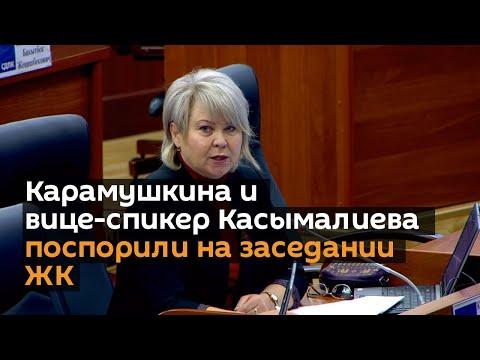 Карамушкина и вице-спикер Касымалиева поспорили на заседании ЖК