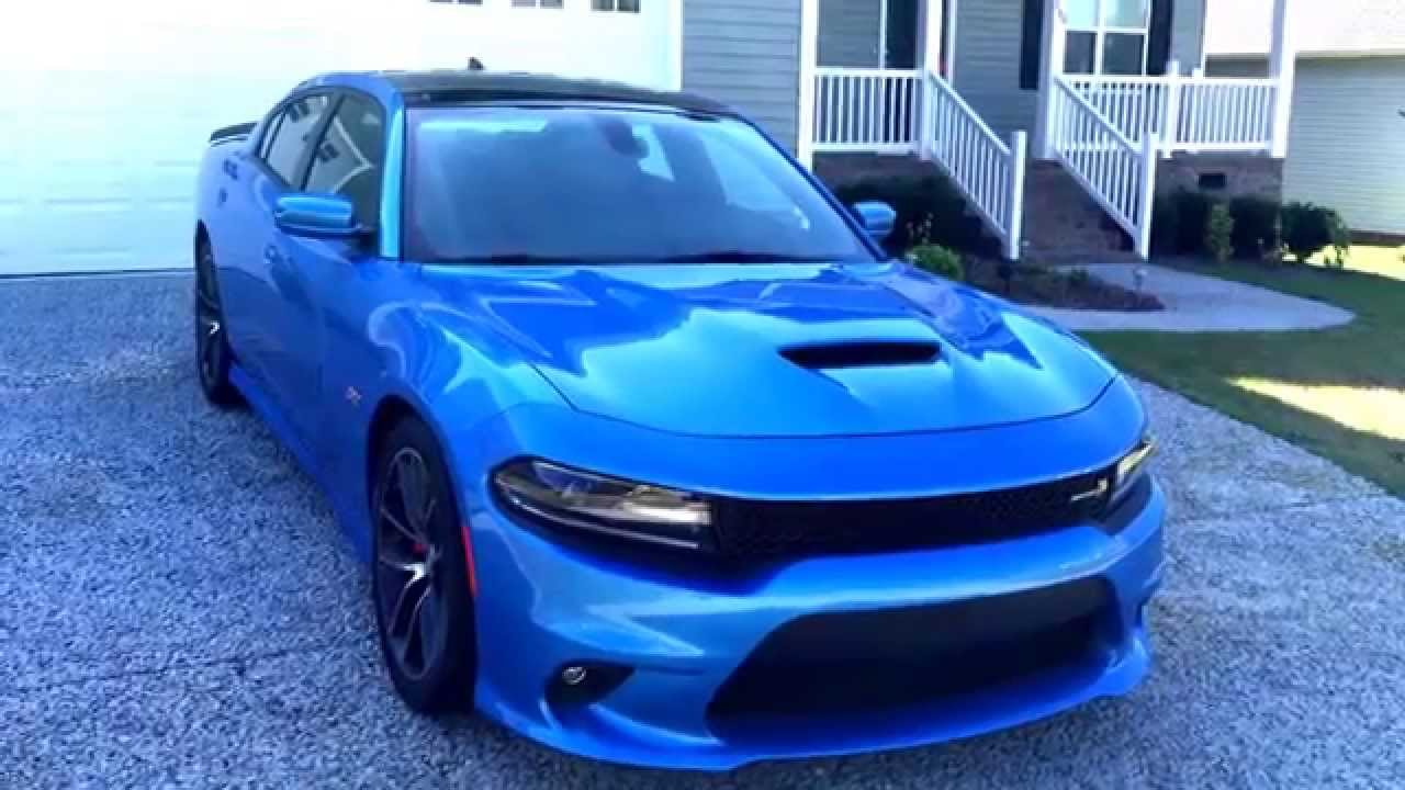 Dodge Challenger Hellcat Blue >> 2015 Dodge Charger Scat Pack - YouTube