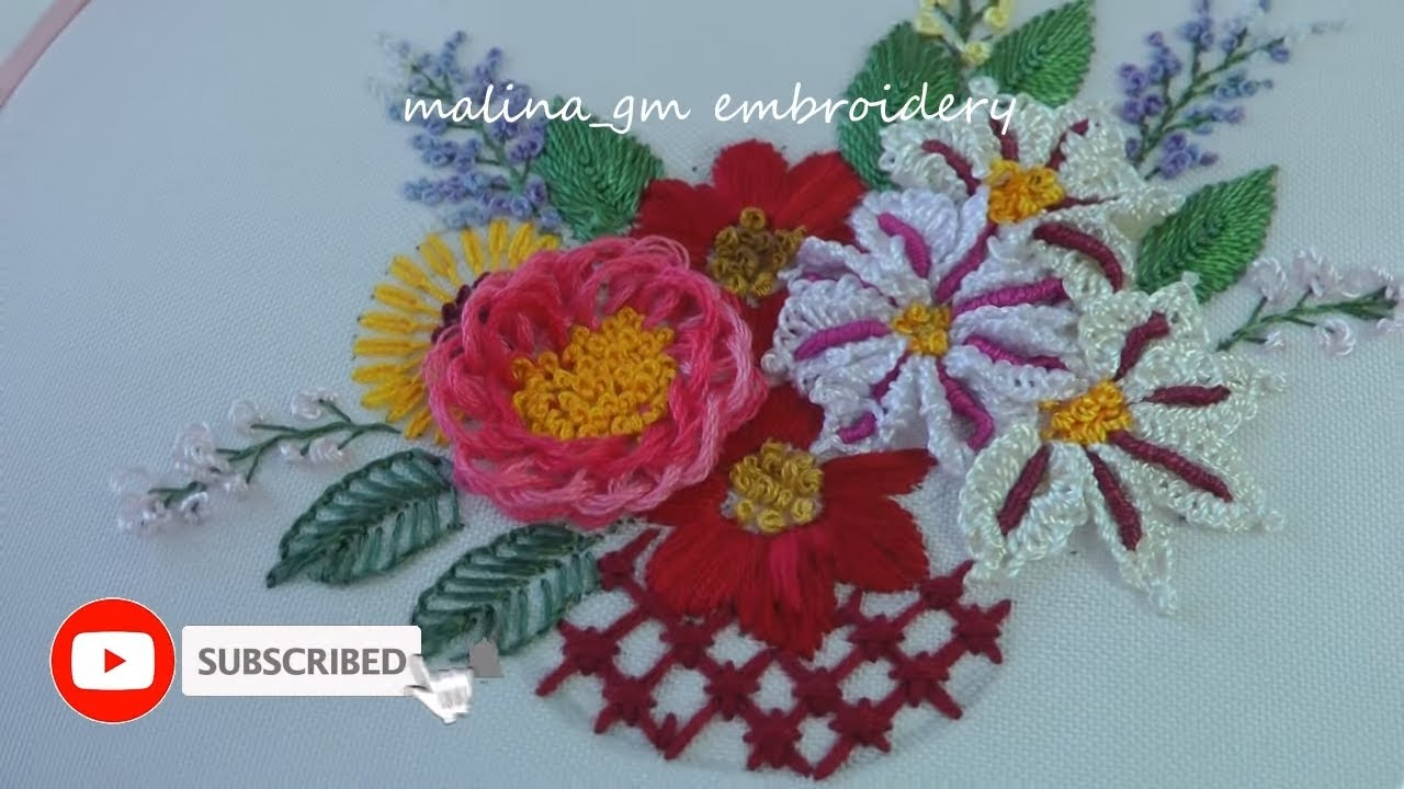 Loop Flower | Dimensional Embroidery | easy stitches