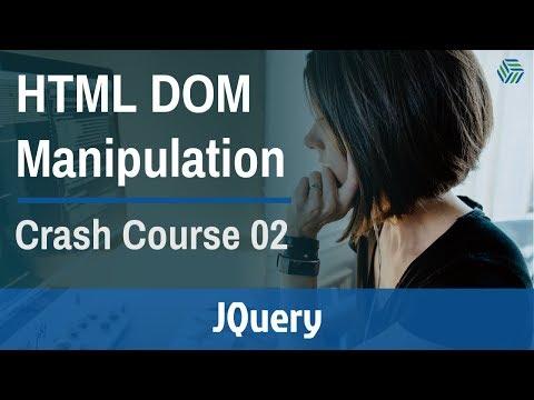 JQuery HTML DOM Manipulation Crash Course 2019 [Part 2] thumbnail