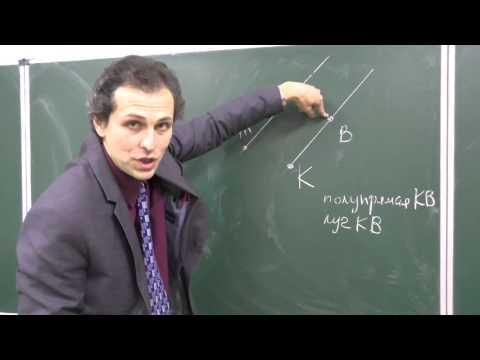 Как обозначаются точки и прямые 7 класс