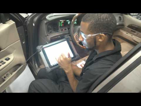 Body control module test with scan tool