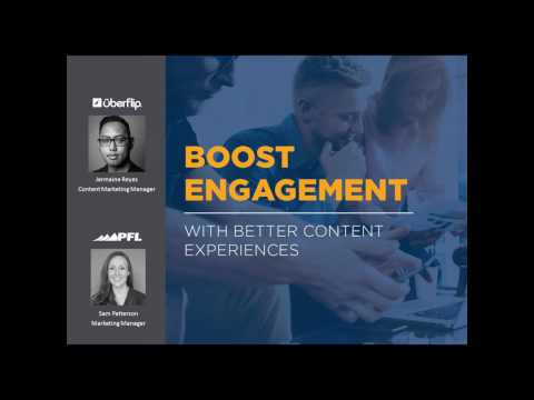 Webinar: Boost Engagement with Better Content Experiences