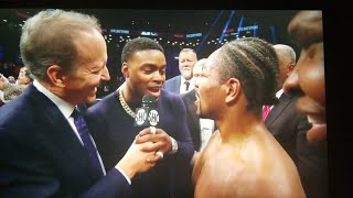 ERROL SPENCE CONFRONTS SHAWN PORTER AND REACTS TO PORTER WIN