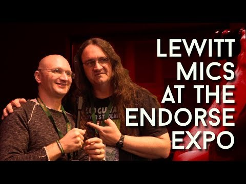 Lewitt Microphones at the Endorse Expo with Glenn Fricker