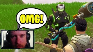 WE ACCIDENTALLY RAIDED A TWITCH STREAMER ON FORTNITE... (MADE HIS DAY!)