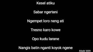 Lirik lagu NDX A.K.A Nyekso batin