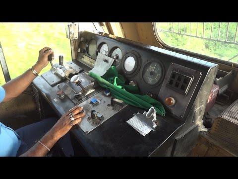 "[IRFCA] Dibrugarh Rajdhani Express locomotive Cab Ride, Inside WDP4B ""GT46PACe"" Locomotive"
