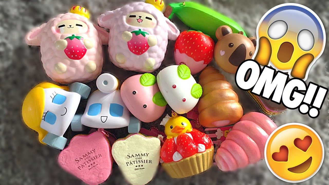 INSANE JUMBO SQUISHIES!!! 2 DelitefulBoutique Squishy Packages! - YouTube
