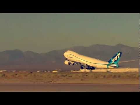 Boeing 747-8's million pound takeoff