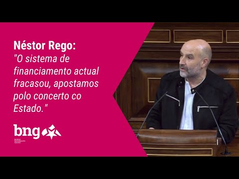 "Néstor Rego: ""O sistema de financiamento actual fracasou, apostamos polo concerto co Estado"""