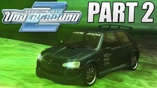 NFS Underground 2 - #2 Pimping Out The Pug & Drifting FWD - EK Plays
