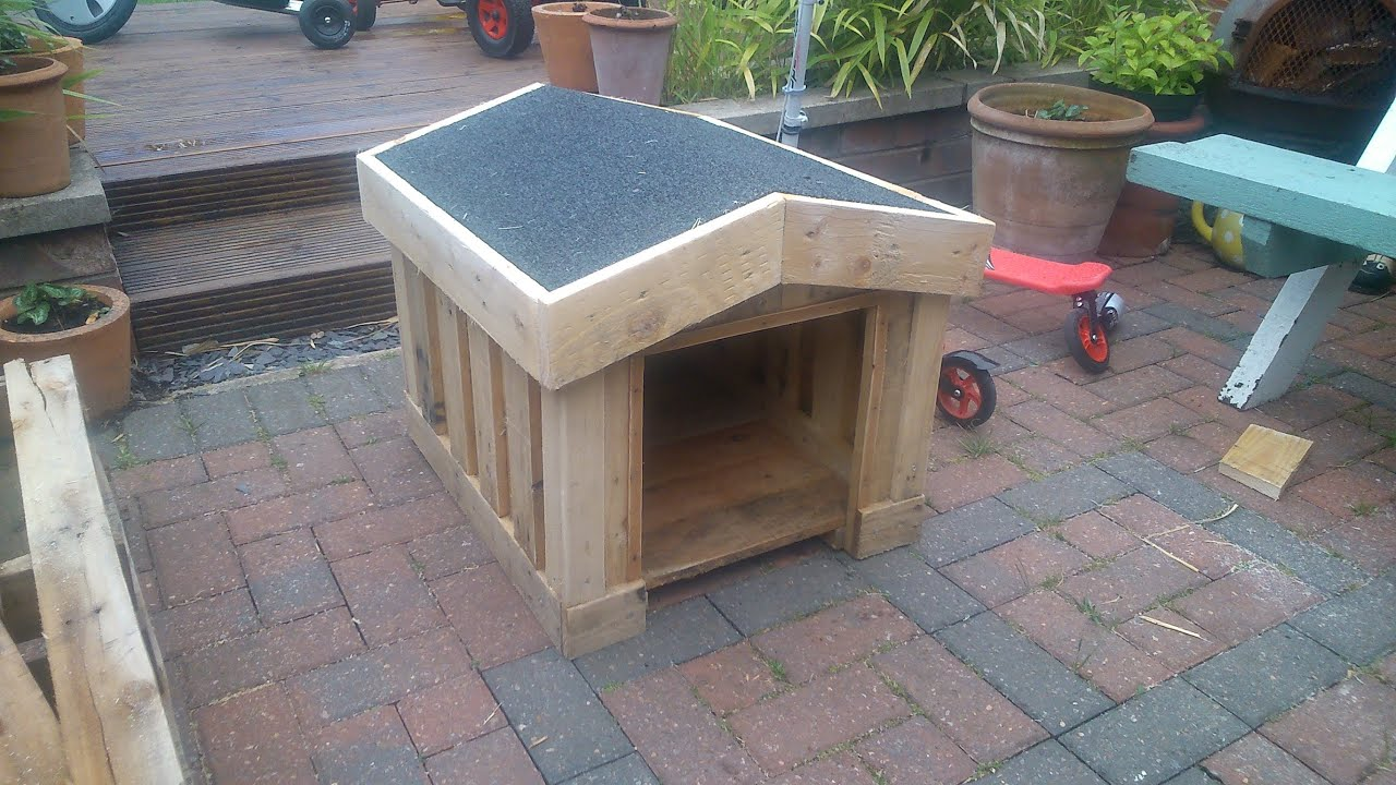 How To Build A Small Dog Kennel Out Of Pallets Ste - YouTube