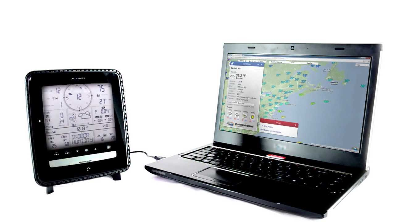acurite pc connect weather stations download weather data to