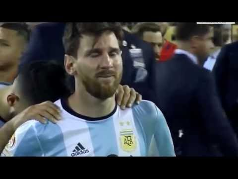 Messi Weep After Miss the Goal