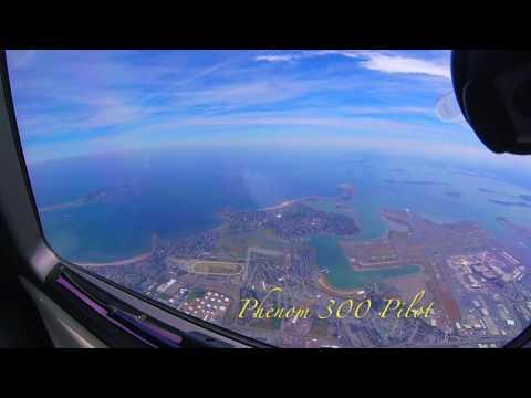 Visual Approach 27, Boston, MA - KBOS - Embraer Phenom 300