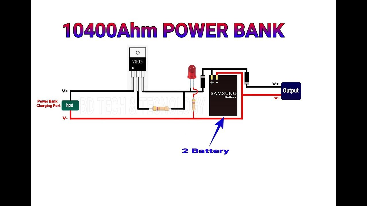 Power Bank Schematic Diagram