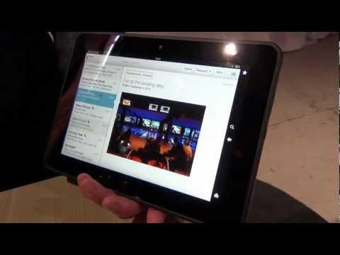 "Amazon Kindle Fire HD 8.9"" hands-on demonstration"