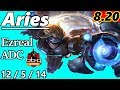 Aries as NEW Ezreal ADC - S8 Patch 8.20 - RANK 9 KR Challenger - Full Gameplay