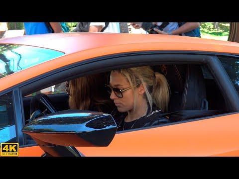 TWO SEXY GIRLS DRIVE A LAMBORGHINI HURACAN PERFORMANTE IN MONACO [2019 4K]