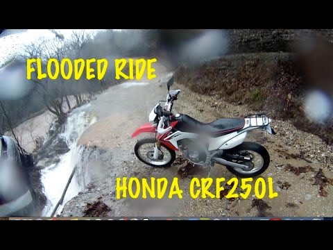 Flooded Ride Honda CRF250L Barry County Near Exeter Missouri