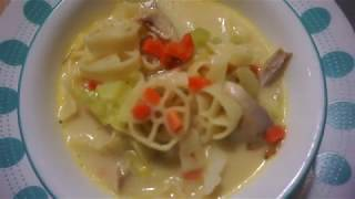 HOW TO COOK PINOY CREAMY CHICKEN SOPAS | USING ROTELLE PASTA