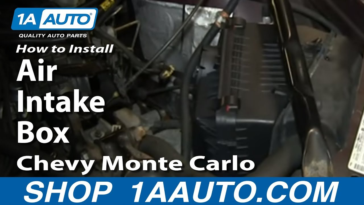 install replace air intake box   chevy monte