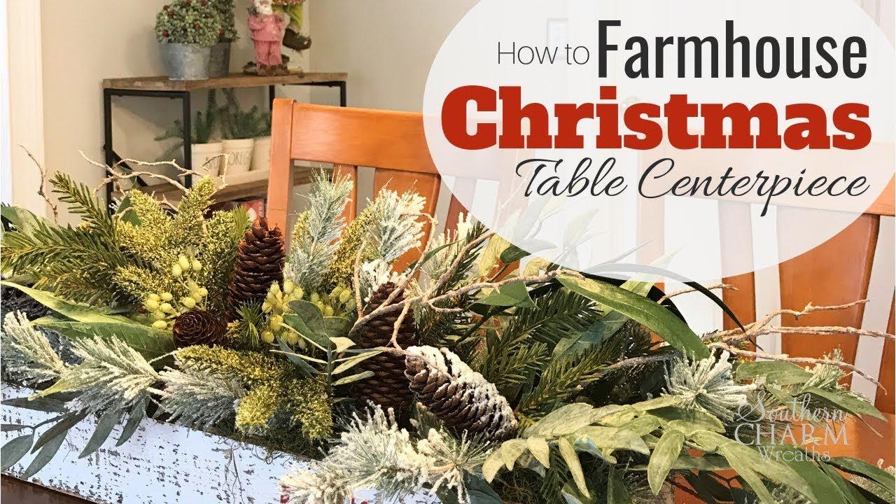 Diy Rustic Farmhouse Christmas Table Centerpiece Youtube