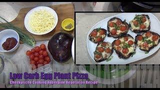 Low Carb Eggplant (Aubergine) Pizza cheekricho vegetarian video recipe ep.1,290