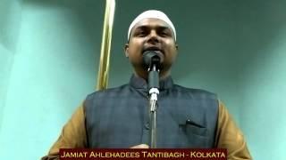 Gustakh-e-Rasool: Sheikh Sanaullah Madani in Masjid Ahlehadees Tantibagh Kolkata.