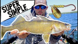 Catch MORE Summer Walleyes with Spinners!