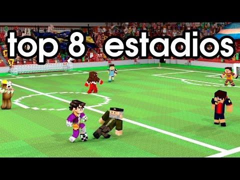 MINECRAFT ESTADIOS DE FUTBOL TOP 8