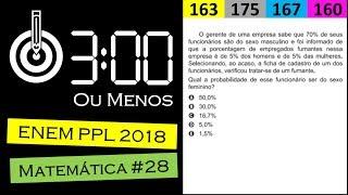 3MM ENEM PPL 2018 Matematica 28