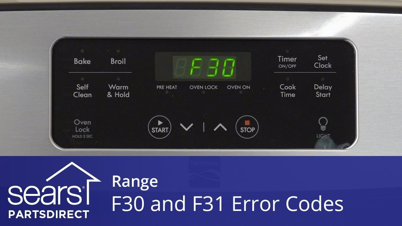 medium resolution of troubleshooting f30 and f31 error codes on a range sears partsdirect