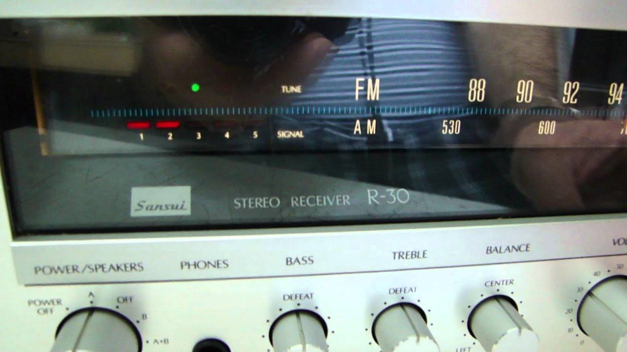 sansui R30 receiver test  YouTube