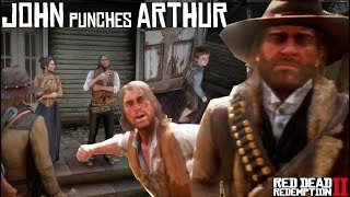 John Marston Punches Arthur Morgan For Insulting Abigail (Arthur As A Jerk) Red Dead Redemption 2