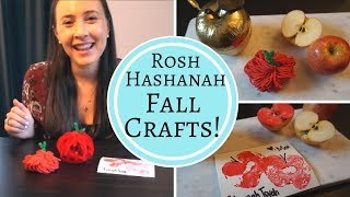 FALL CRAFTS! Rosh Hashanah Craft with Kids Ideas!
