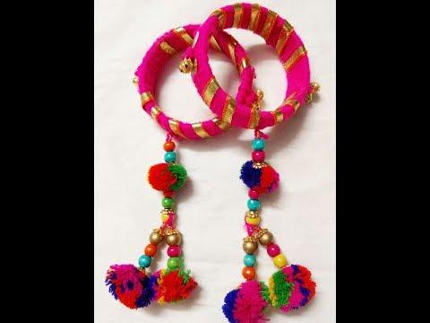 DIY Navratri special jewellery, bangles/ gotta patti bangles...By Shriya Patel