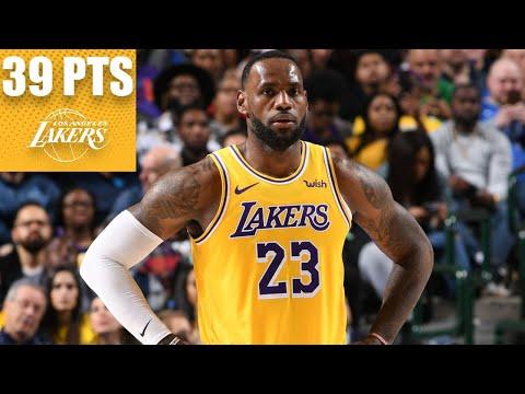 LeBron James goes off for 39-point triple-double vs. the Mavericks | 2019-20 NBA Highlights