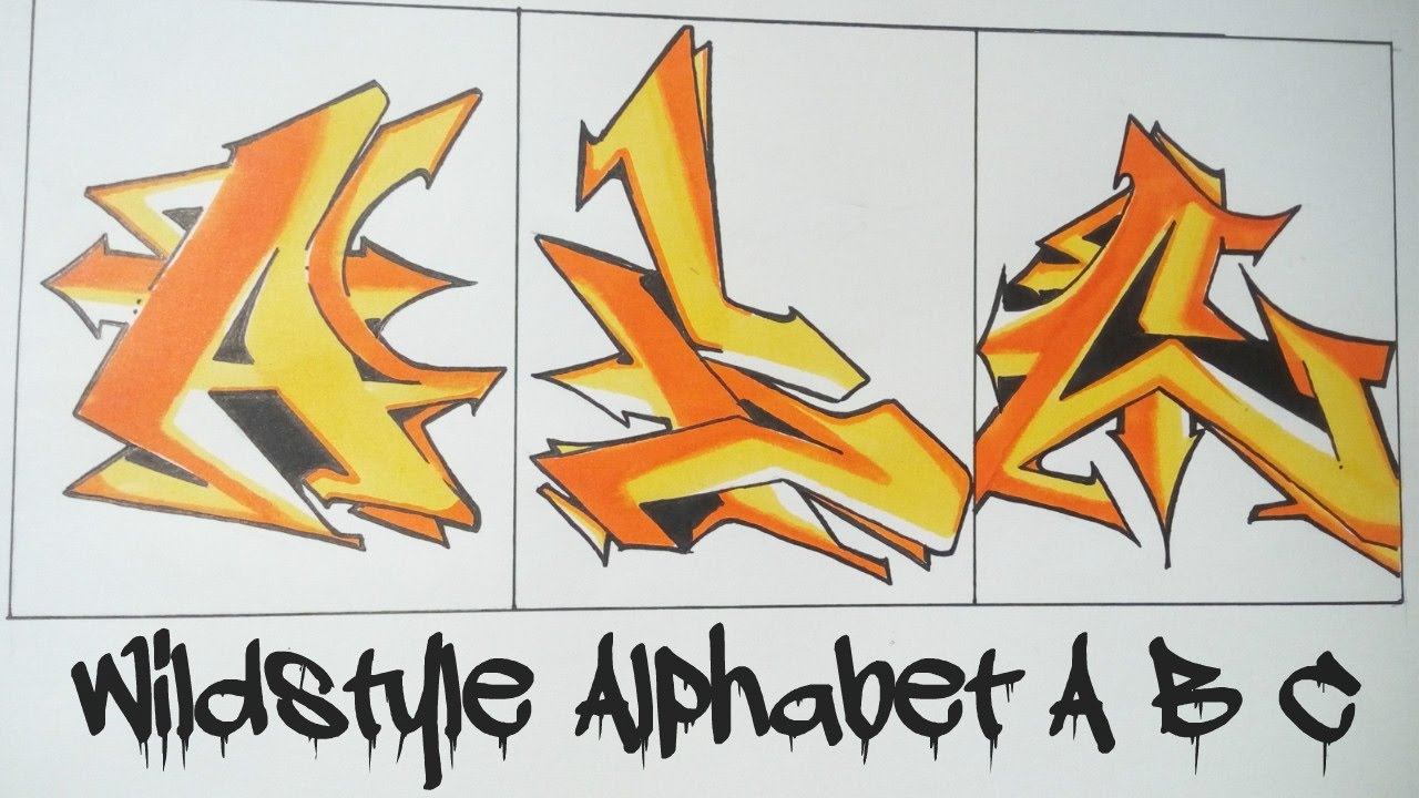 Wildstyle graffiti alphabet a b c youtube thecheapjerseys Image collections