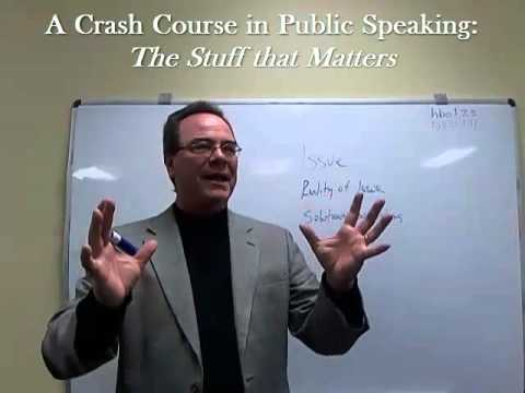 crash course public speaking speech outlines youtube