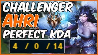 CHALLENGER AHRI PERFECT KDA - How to play Ahri (Live Commentary) - League of Legends