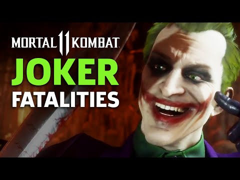 Mortal Kombat 11 - Joker Fatalities, Brutalities, And Fatal Blow Gameplay