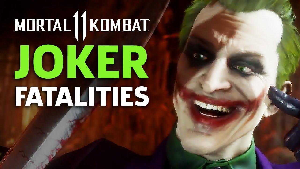 Mortal Kombat 11 - Joker Fatalities, Brutalities, And Fatal Blow Gameplay - GameSpot