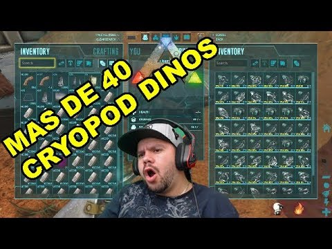 RAIDEO SOLO CON MAS DE 40 CRYOPOD DINO/ark survival evolved-GAMEPLAY  ESPAÑOL-