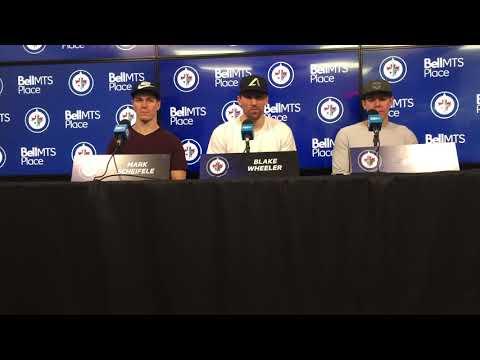 Winnipeg Jets captain Blake Wheeler and Mark Scheifele, May 22, 2018