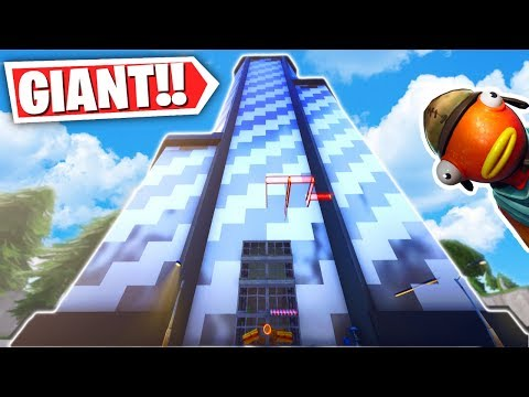 This Fortnite SKYSCRAPER ESCAPE PARKOUR MAP is the BEST! (Fortnite Creative Mode Escape Parkour)